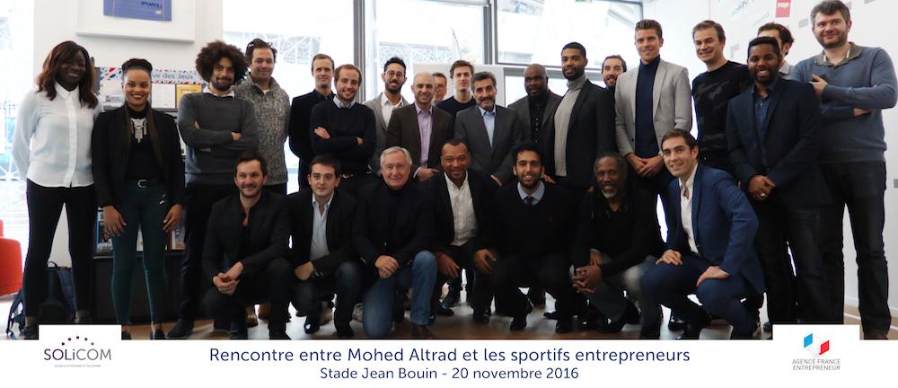 retour sur la rencontre entre mohed altrad et les sportifs entrepreneurs solicom. Black Bedroom Furniture Sets. Home Design Ideas