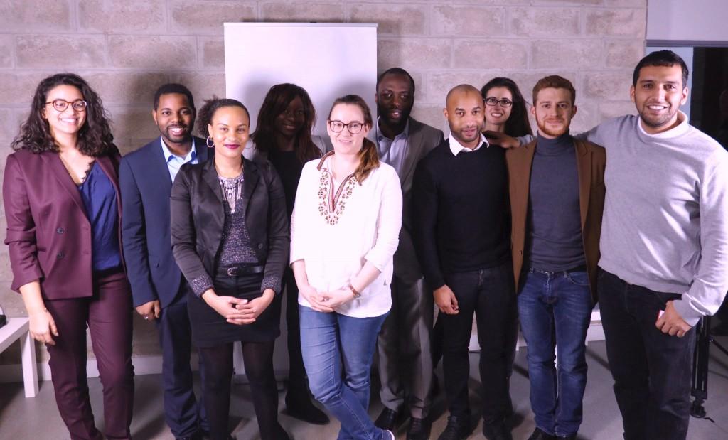 Axelle Lemaire avec l'équipe Solicom